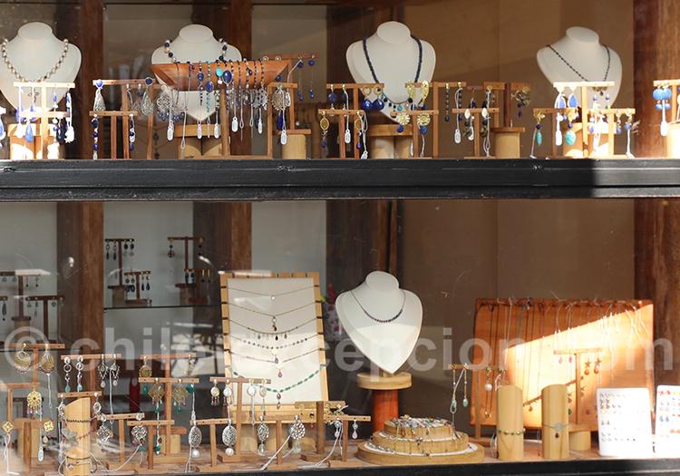 Boutique d'artisanat mapuche et de lapis lazuli