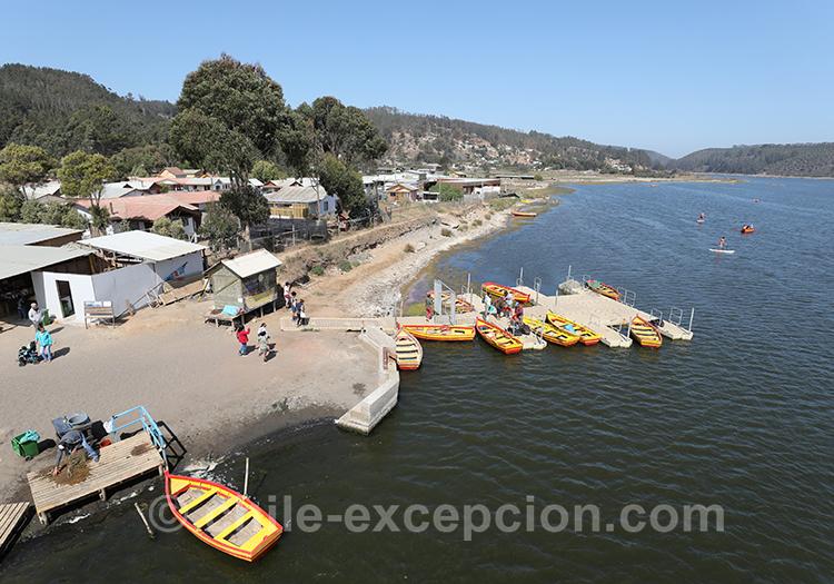 Cáhuil et salines de Cáhuil, Chili avec l'agence de voyage Chile Excepción