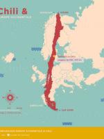 Carte Europe-Chili par Chile Excepción