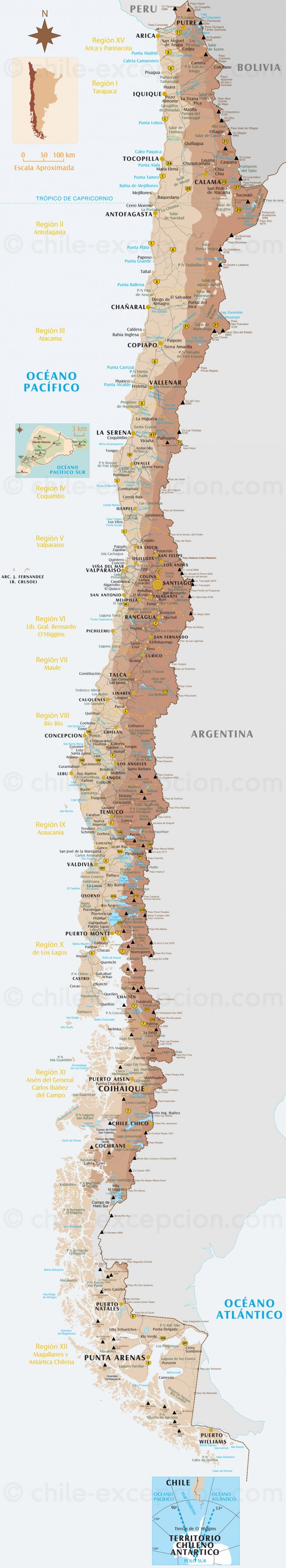 Le Chili du Nord au Sud