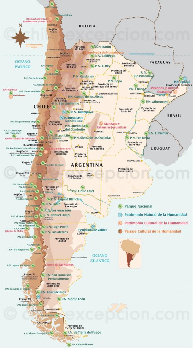 "alt=""Carte parcs Chili et Argentine"""