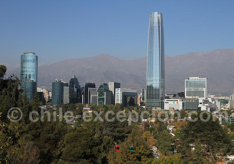 Vue générale du quartier de Providencia depuis le Cerro San Cristobal