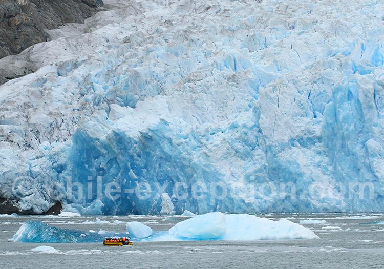Excursion nautique glacier San Rafael