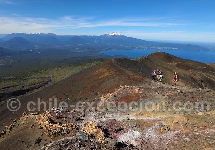 Rando cratère rouge sur le volcan Osorno