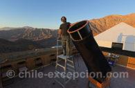 Soirée à l'observatoire astronomique del Pangue