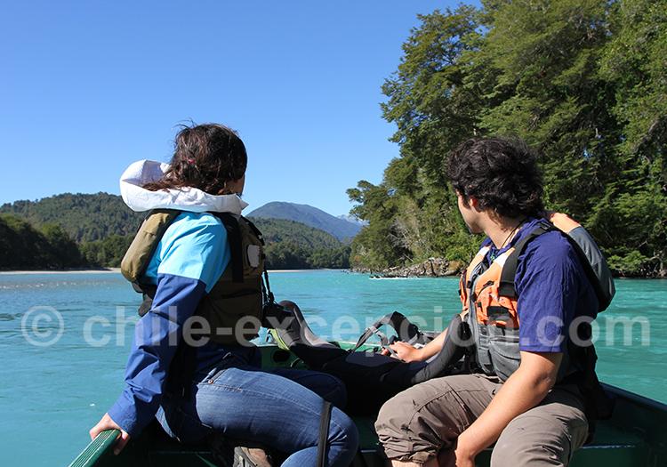 Excursion nautique rio Puelo,