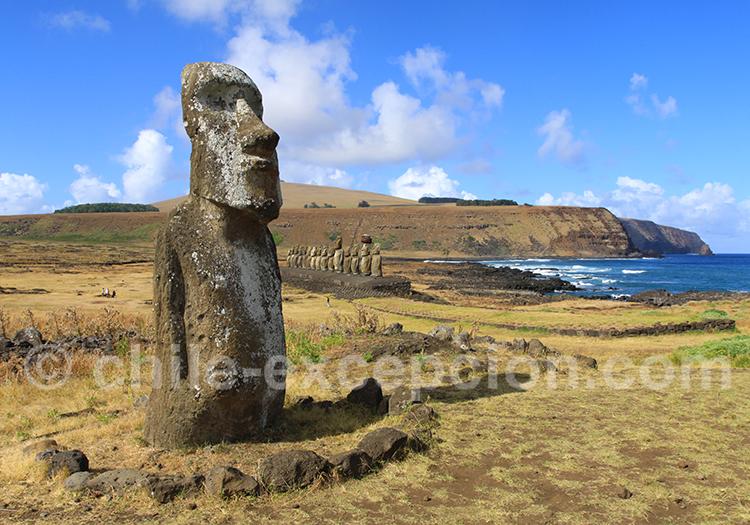 Les statues Moaï de Rapanui
