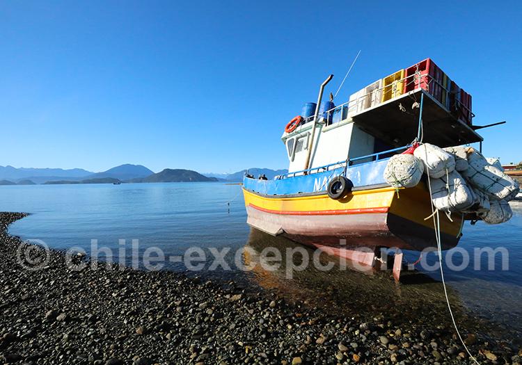 Puelo à Hornopiren, port de Hualaihue