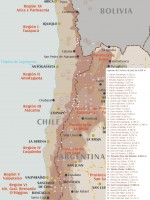 Carte des sommets de plus de 6.000 m