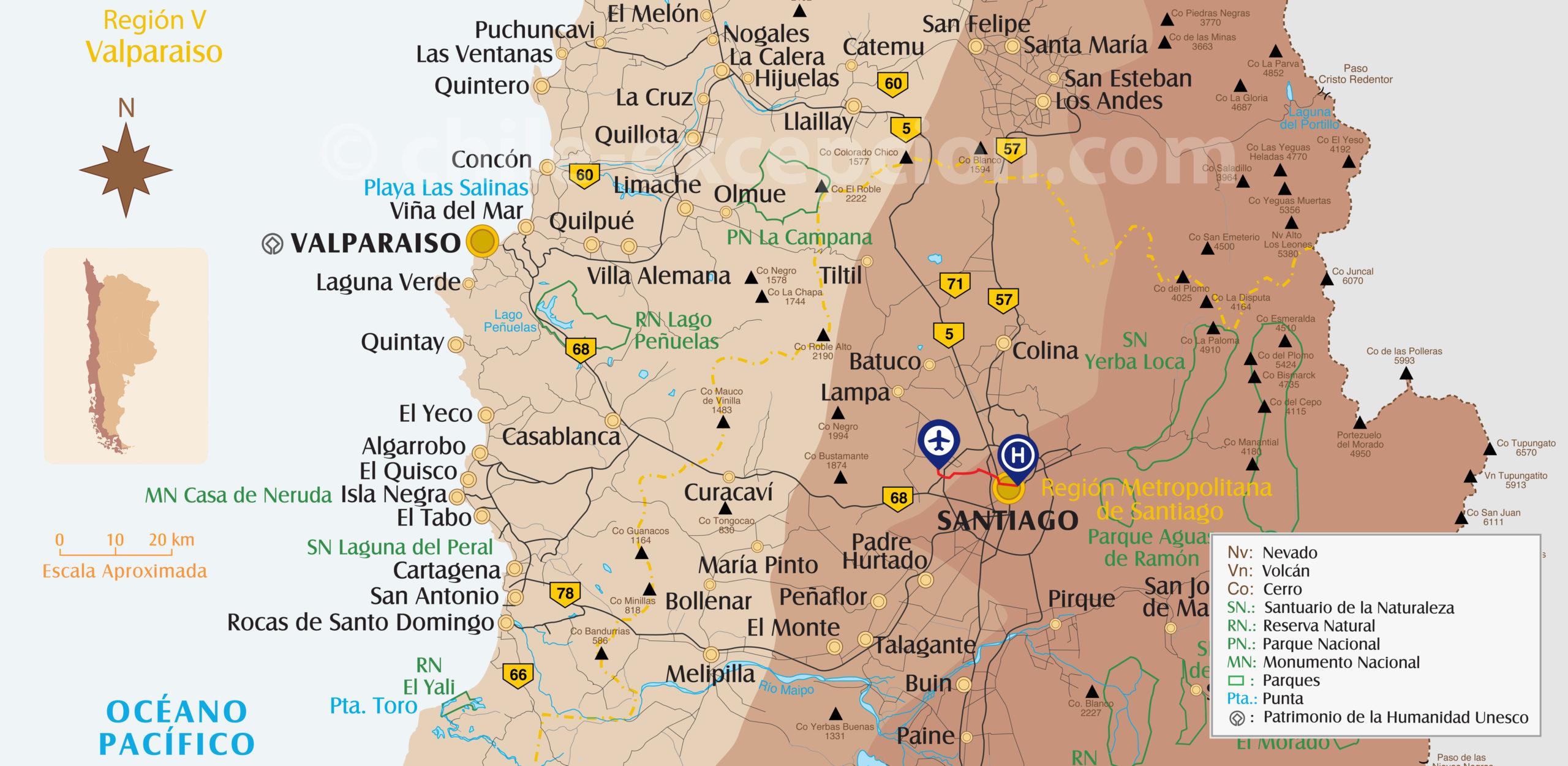 Aéroport Santiago du Chili circuit 12