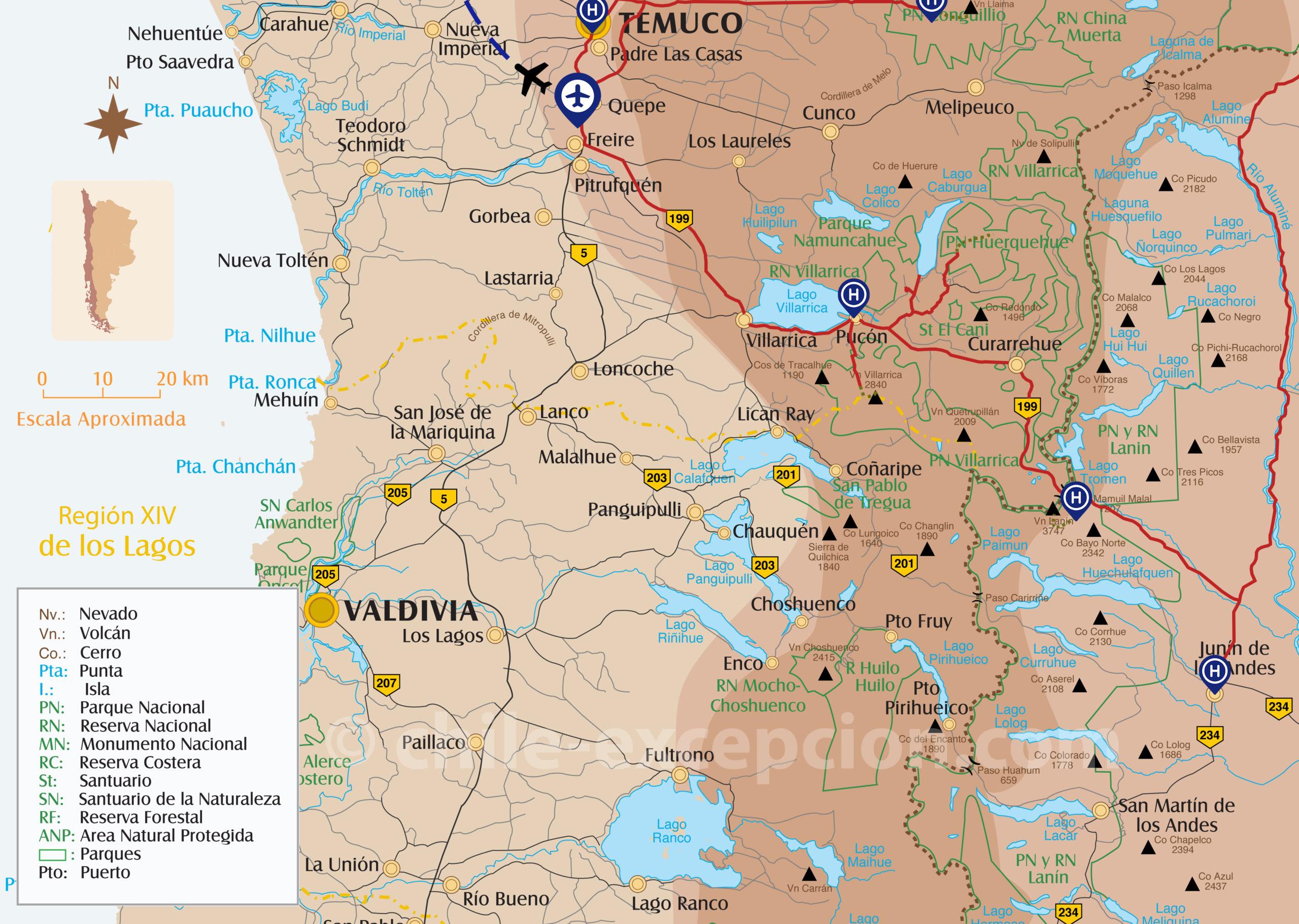Ascension 4 volcans Patagonie zoom Lanin, Villarica Llaima