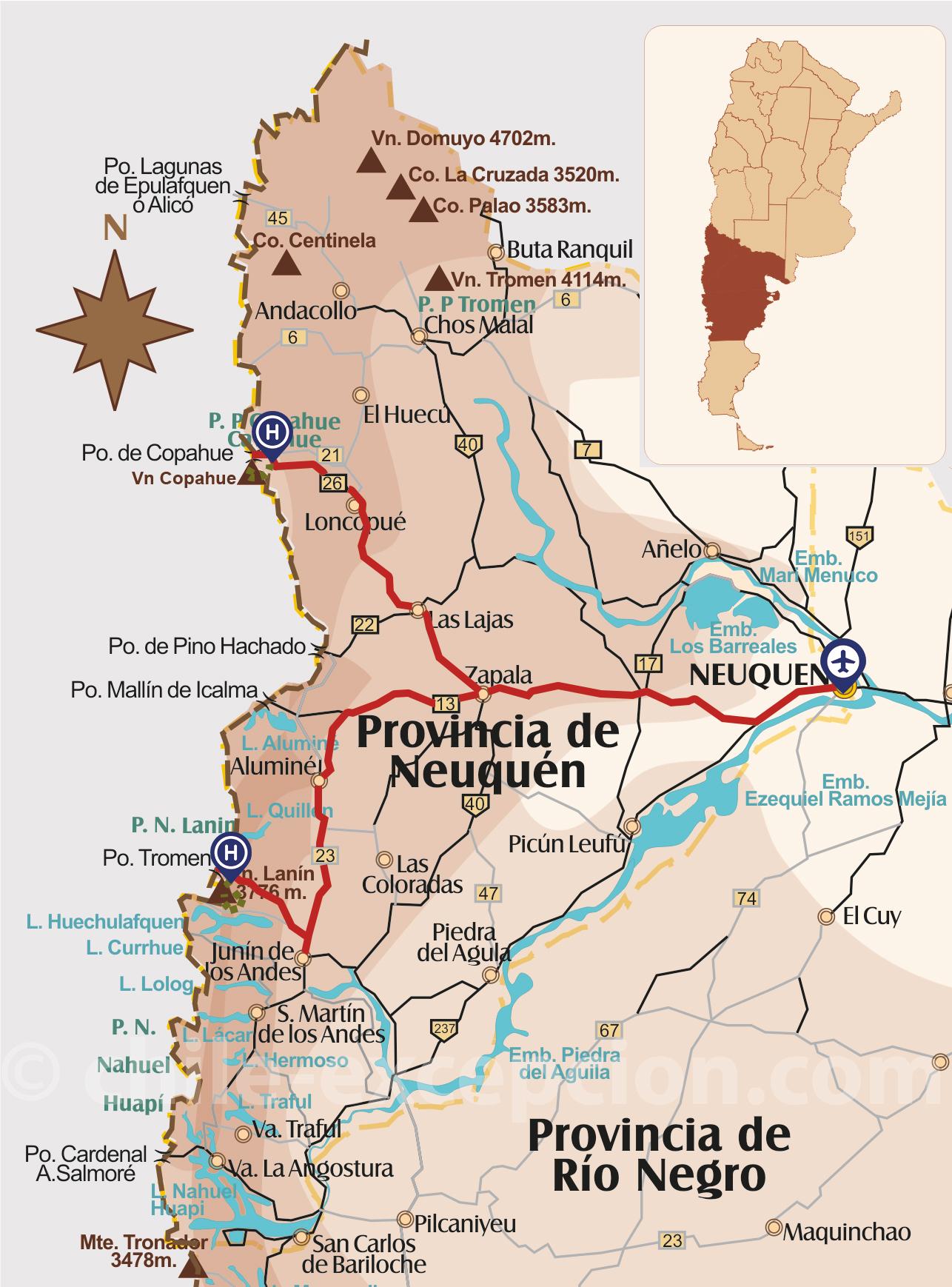 Circuit ascensions volcans partie Argentine