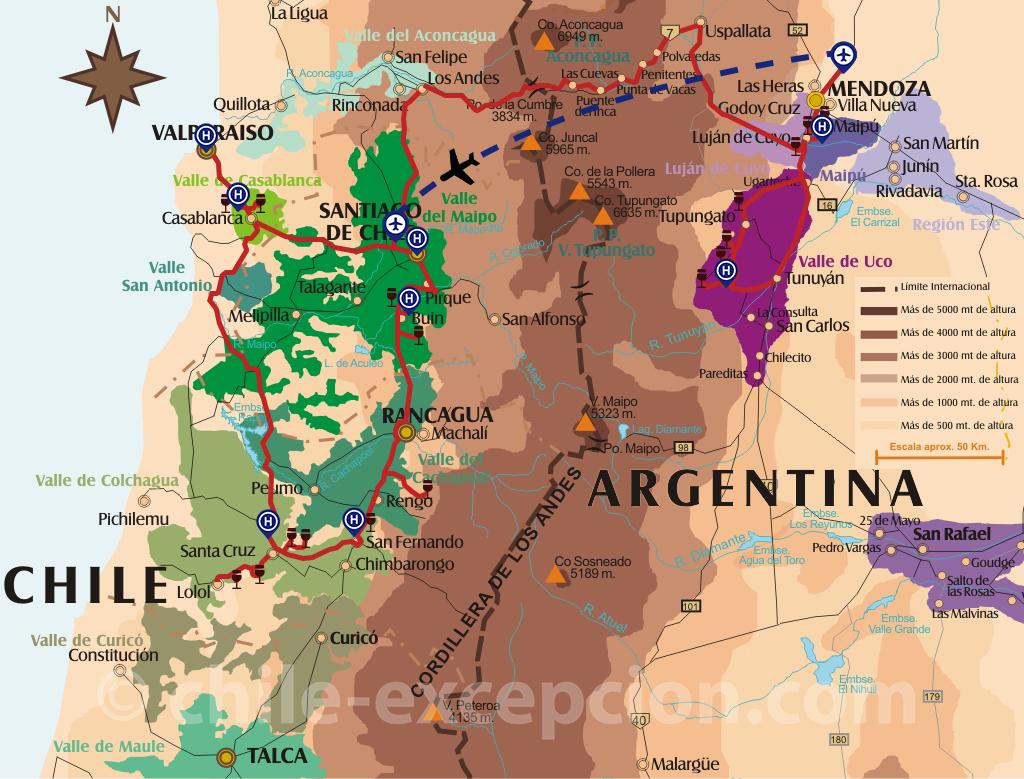 Circuit route des Vins Chili + Argentine