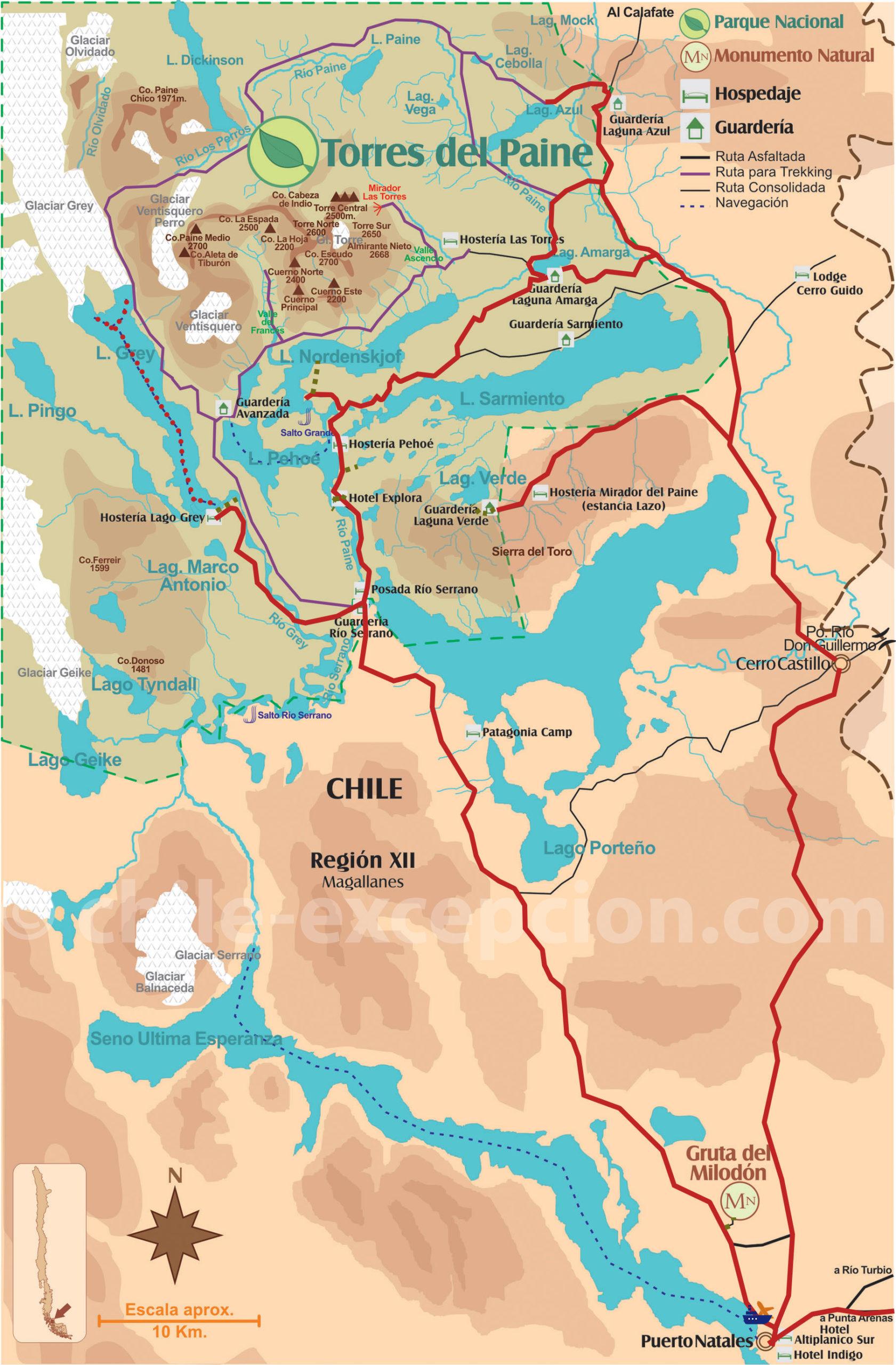 Croisière Skorpio III visite parc Torres del Paine