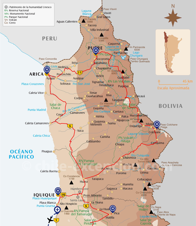 Détail parcours Extrême Nord Chili