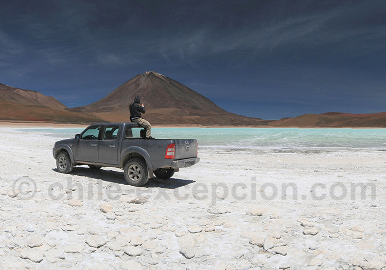 Extention en Bolivie, laguna Verde