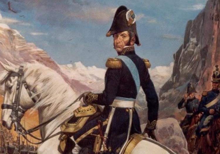 Général José de San Martín, traversée des Andes