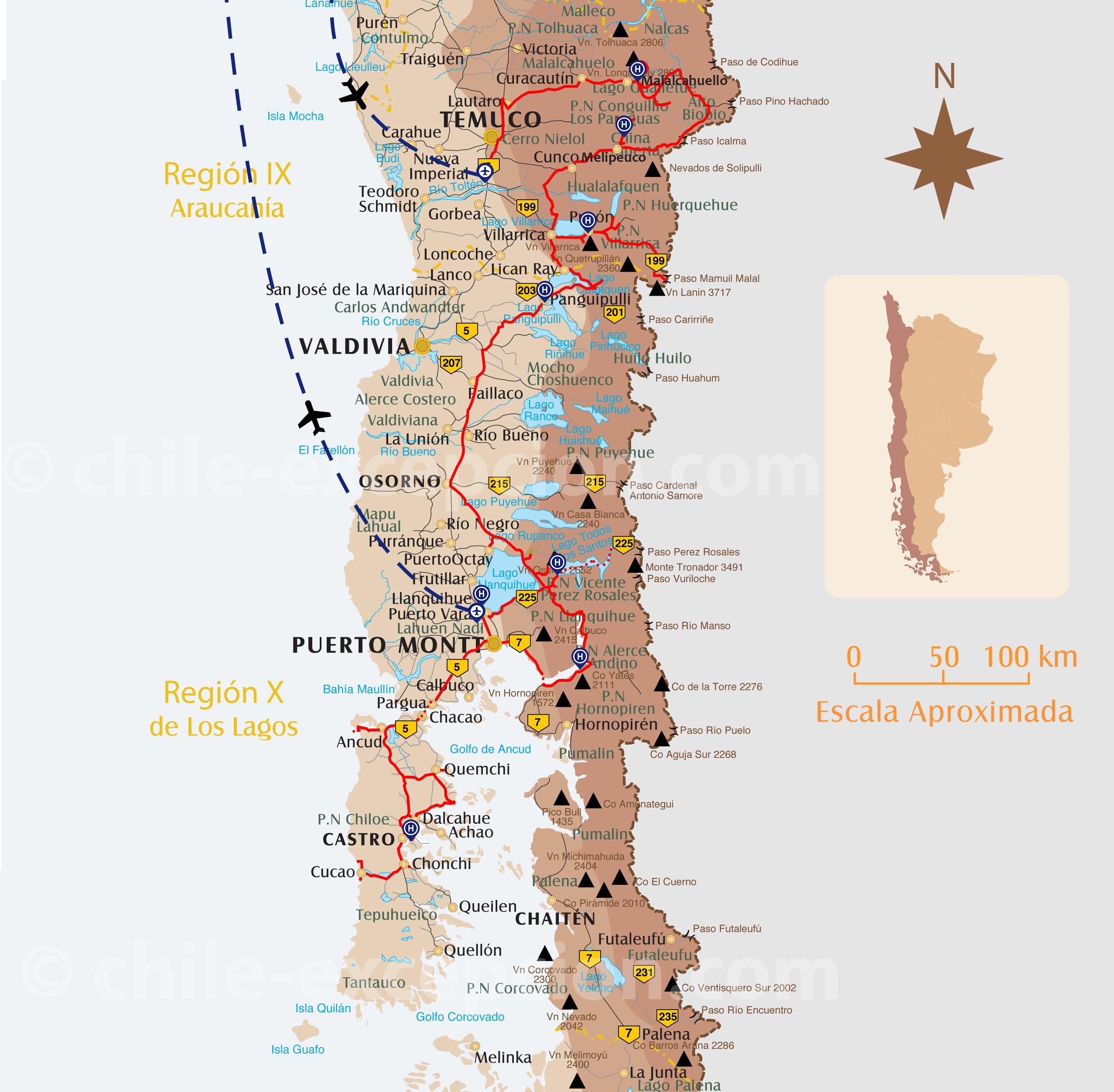 Itinéraire Autotour Lacs Chiloé 16