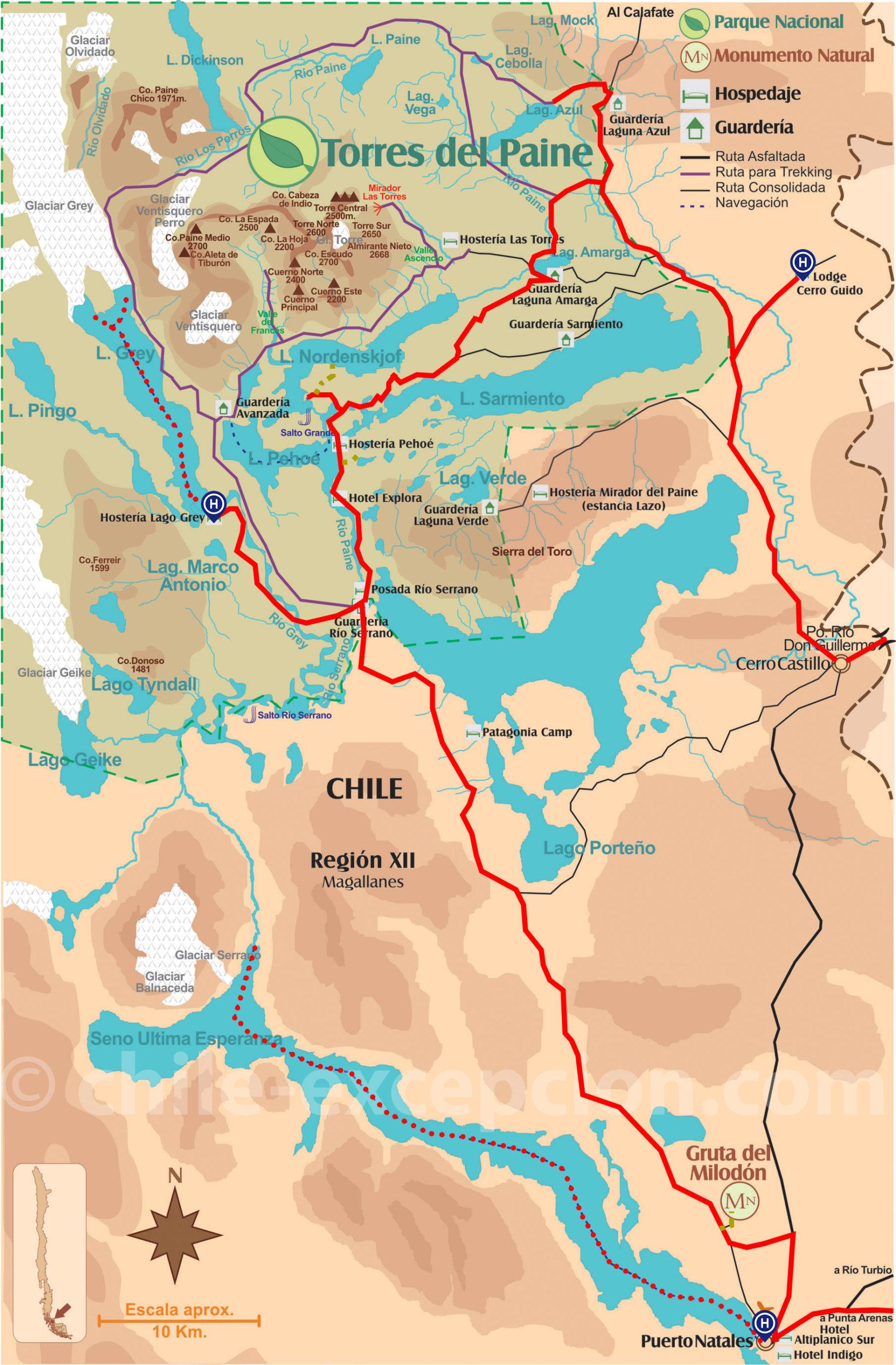 Itinéraire Torres del Paine autotour 14