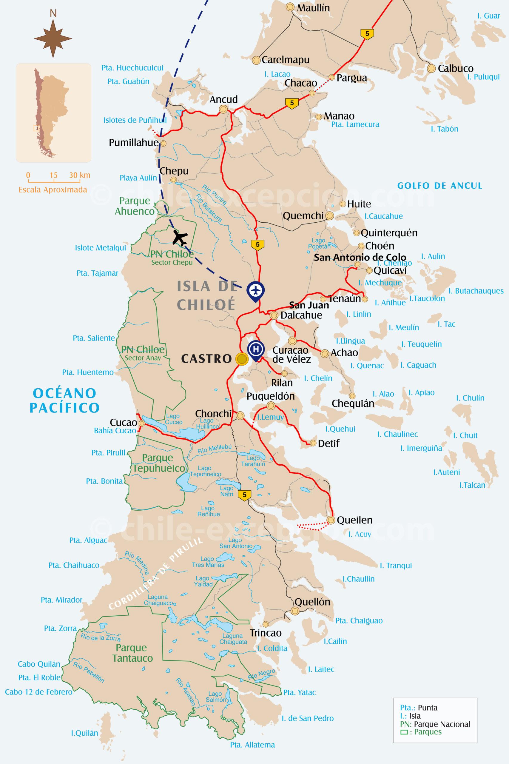 Itinéraire circuit Chiloé