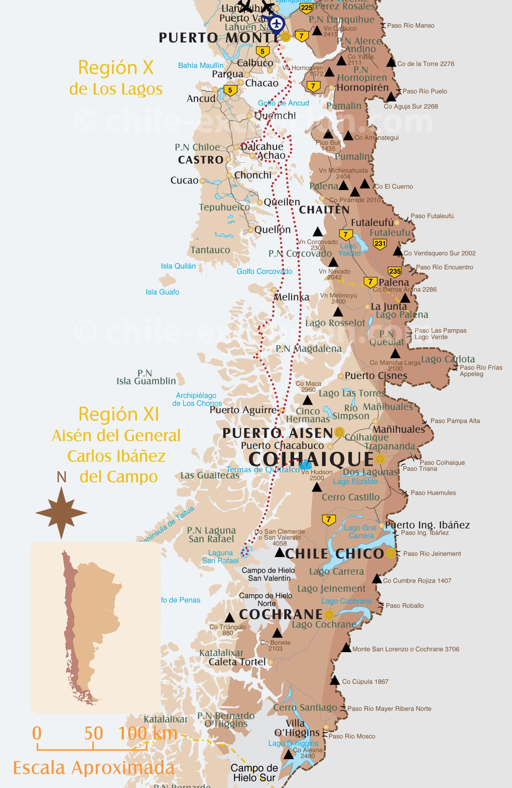 Itinéraire croisière Skorpio II