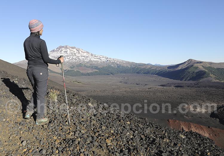 Ascencion du cratère Navidad, volan Lonquimay