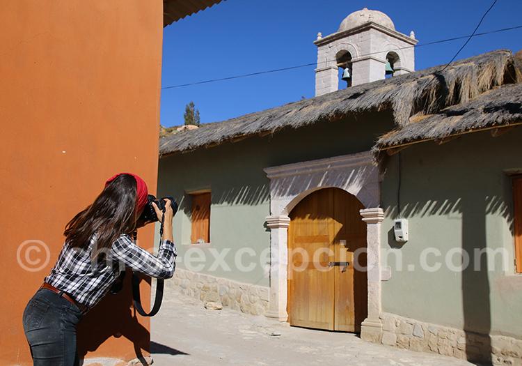 Visite du village colonial de Belen, route Incas