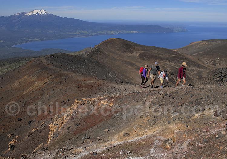 Rando Cratère Rouge, volcan Osorno c
