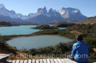 Lacs Pehoé, vue panoramique sur Torres del Paine