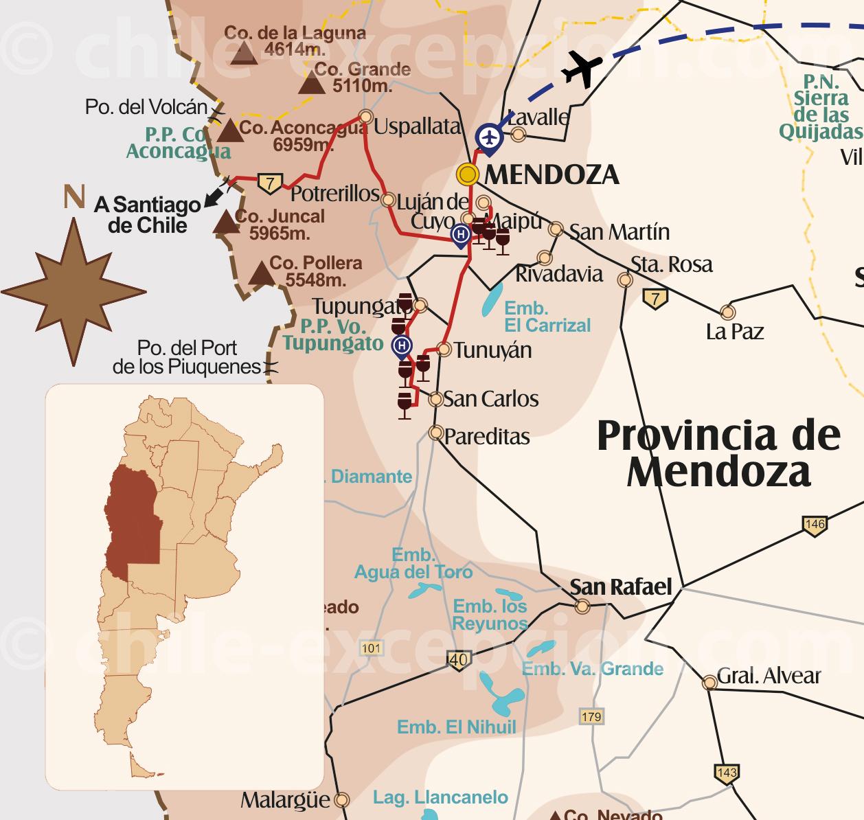 Parcours Vins Chili & Argentine, partie Argentine