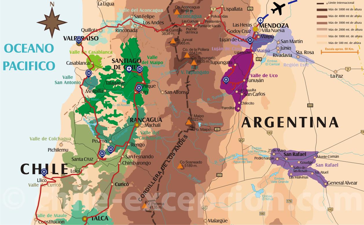 Parcours Vins Chili et Argentine