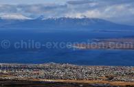 Puerto Natales depuis la Sierra Dorotea
