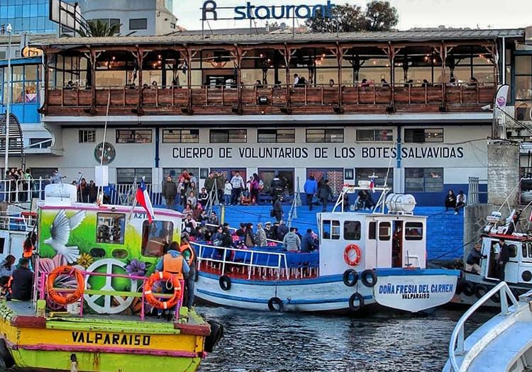 Restaurant Bote Salvavidas, port de Valparaiso