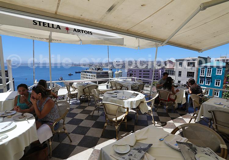 Restaurant cafe Turri, Valparaiso