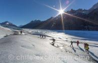Trekking sur le glacier Grey