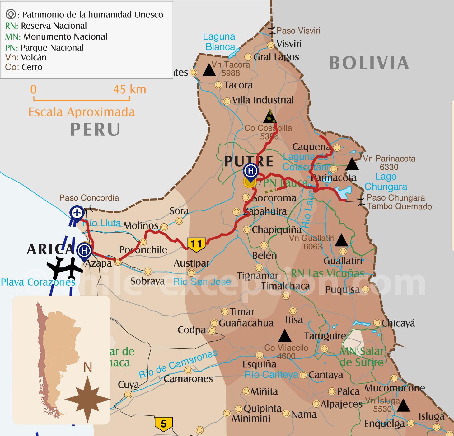 Treks et ascensions Nord Chili, partie Putre