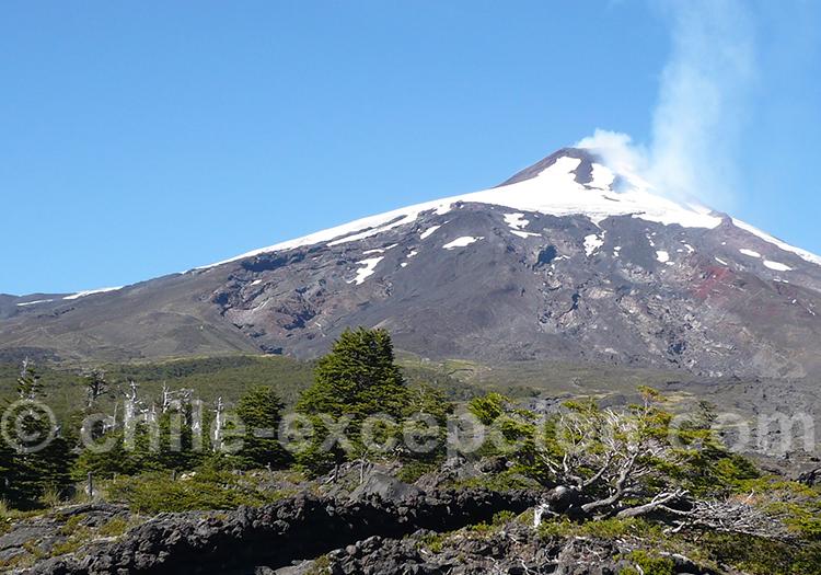 Volcan actif de Villarica, sud Chili