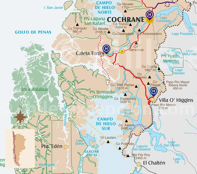 Zoom circuit Autotour Villa O'Higgins