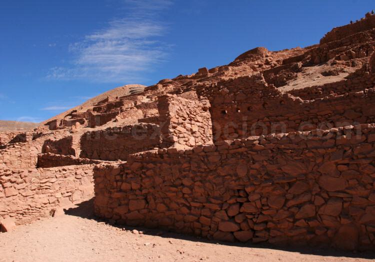 Pukará de Quitor, San Pedro de Atacama. Ancienne forteresse atacameña renforcée par les incas