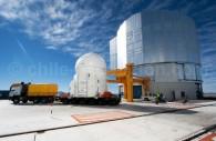 Arrivée du téléscope auxiliaire (AT) de 1,8 mts. – Crédit ESO Y. Beletsky