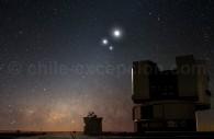 VLT de l'observatoire à Parana. Crédit ESO Y. Beletsky