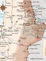 Carte région San Pedro de Atacama