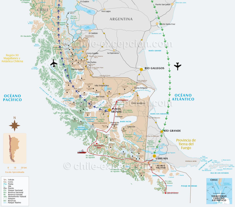 Carte croisiere Australis