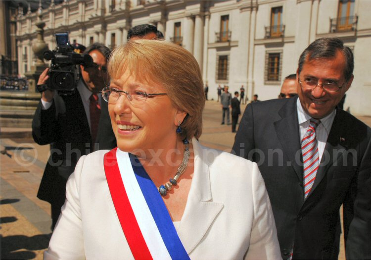 Michelle Bachelet aux Fiestas Patrias - 2007. © Christian Varas Kallens