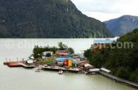 Caleta Tortel, région d'Aysén. Crédit Claudio Jofré Larenas