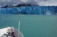 Champ de glace Sud, lac O'Higgins navigation depuis Bahía Bahamondez. Crédit Jorge Troncoso