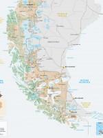 Carte Patagonie australe du Chili
