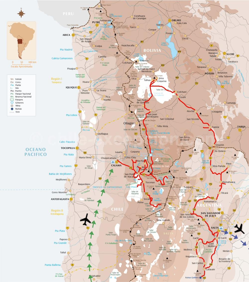 Combiné Atacama, Uyuni, Noroeste - 11
