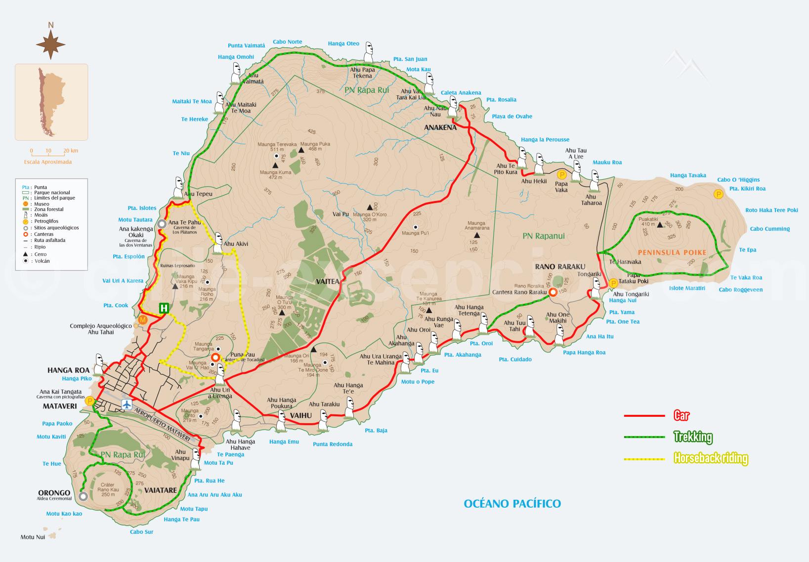 Carte Trekking Circuit Thématique
