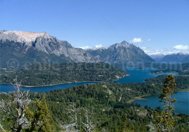 Brazo de la Tristeza, lac Nahuel Huapí depuis le Cerro Campanario